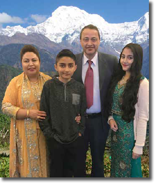 Uttam with his family.